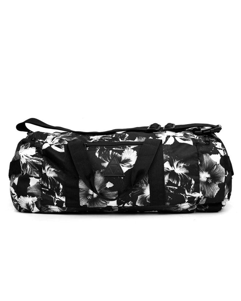 Floral Duffle Bag Black