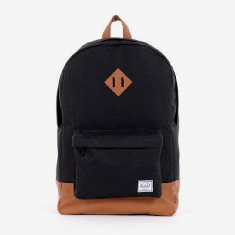 Herschel Bag CO Heritage Backpack Black brown – Culture Kings 1c219b64bbbdb