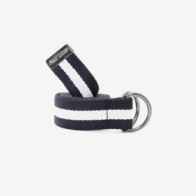 Fully Laced Belt Navy/white