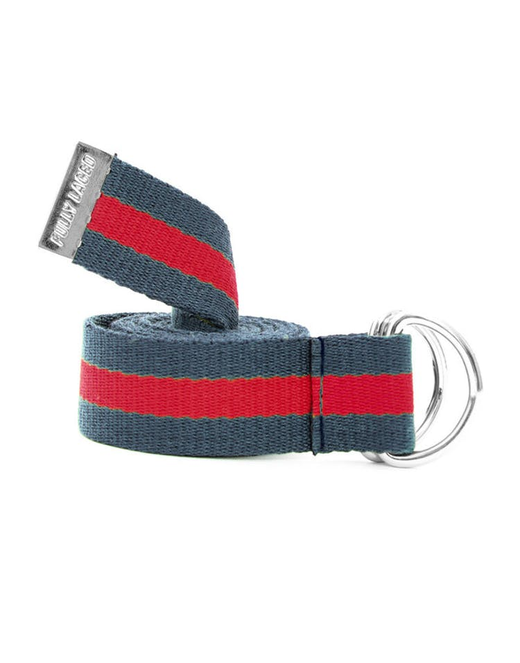 Fully Laced Belt Navy/red