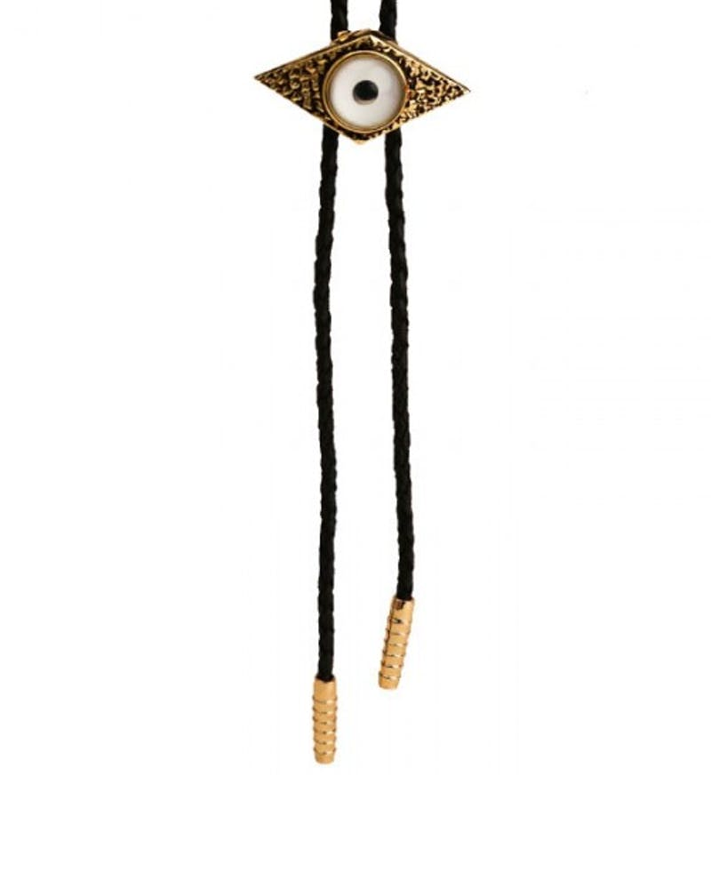 the Han Bolo Necklace Black/white/gol