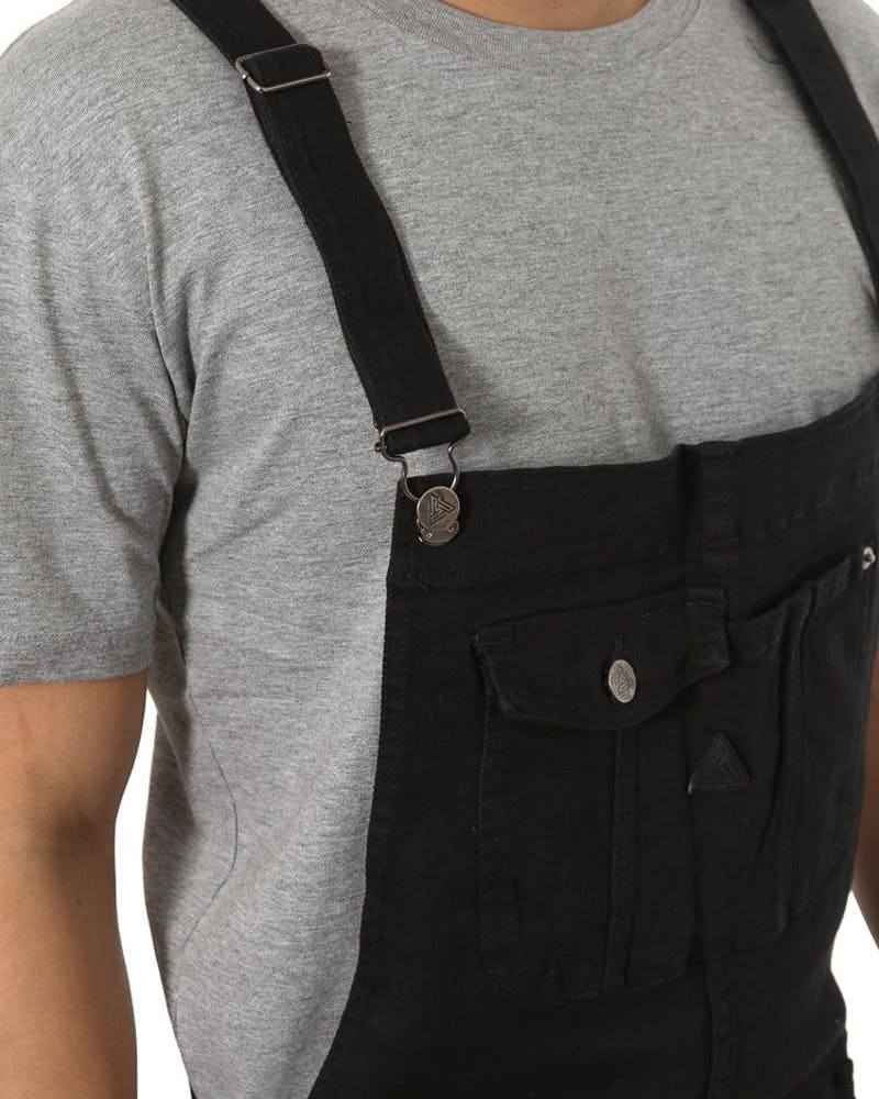 Denim Overalls Black