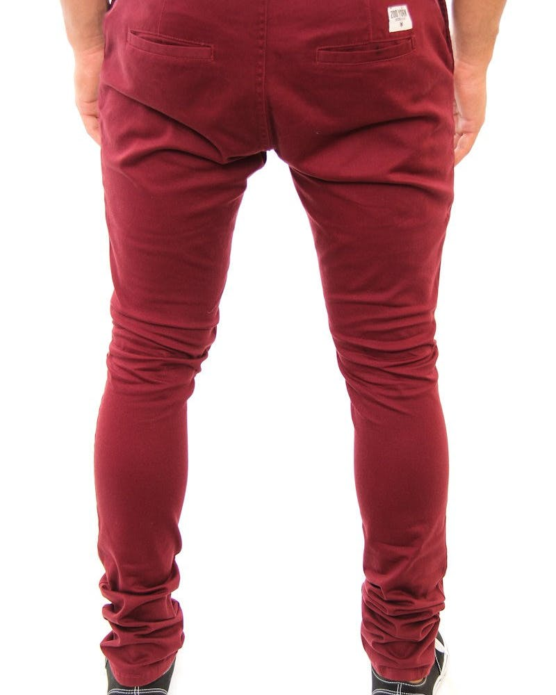 Brooklyn Chino Pant Burgundy