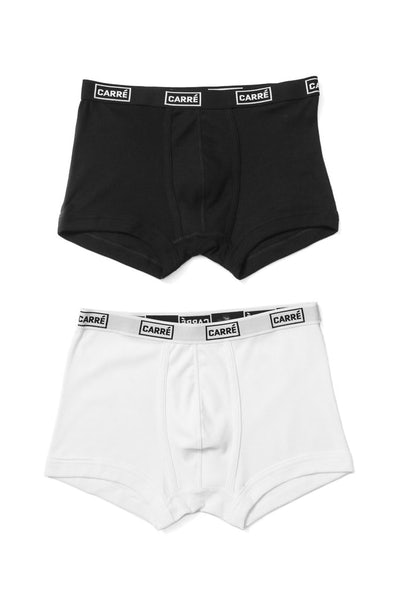 Twin Pack Boxer Briefs Black/white