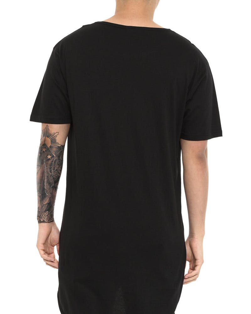 Grade Droptail Tee Black