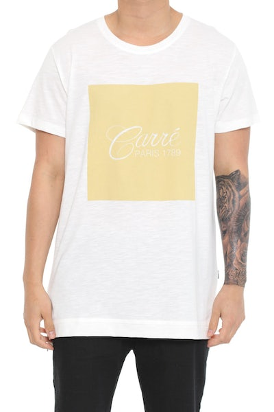 Staple Script Statique SS Tee Off White