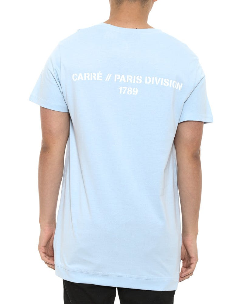 Division Statique Short Sleeve Tee Blue
