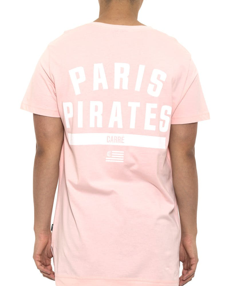 Paris Pirates Statique Short Sleeve Tee Pink
