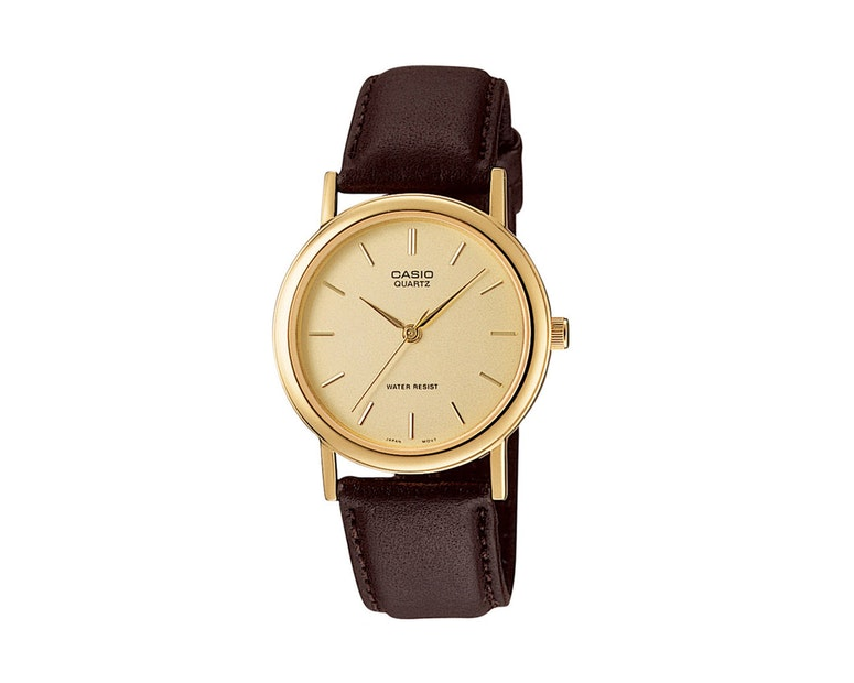 Mtp1095q Gents Analog Black/gold/brow