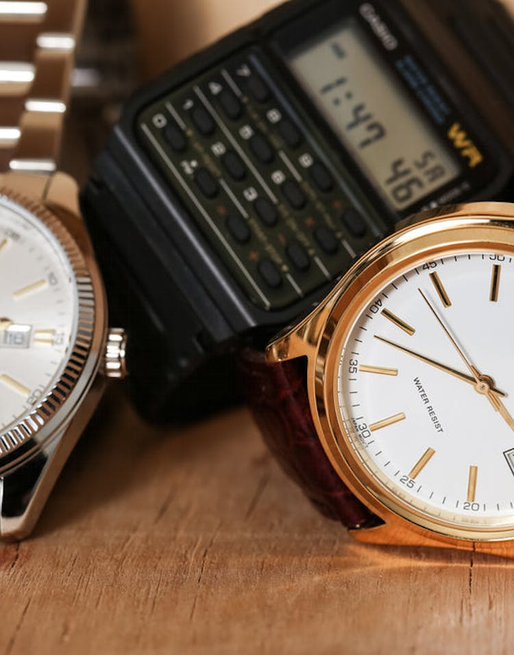 Mtp1183q Gents Analog Brown/gold/whit