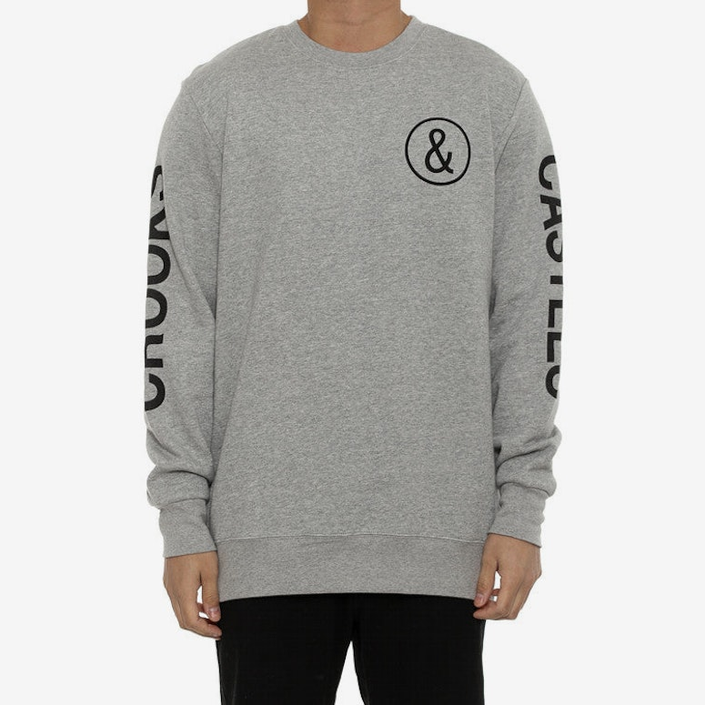 C&c Fleece Crew Grey