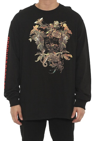 Wild Medusa Long Sleeve Tee Black