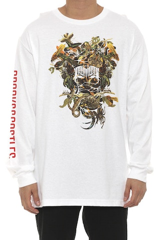 Wild Medusa Long Sleeve Tee White