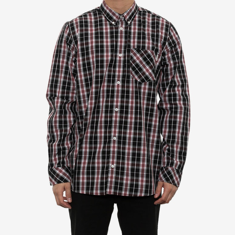 Craig Long Sleeve Shirt Black/red