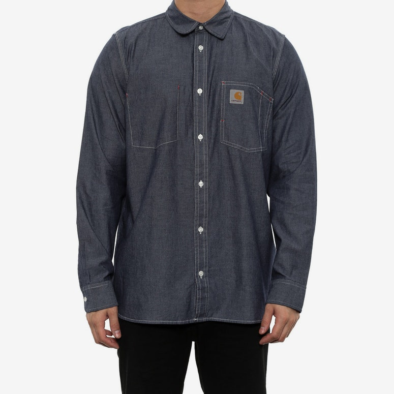 State Long Sleeve Shirt Blue