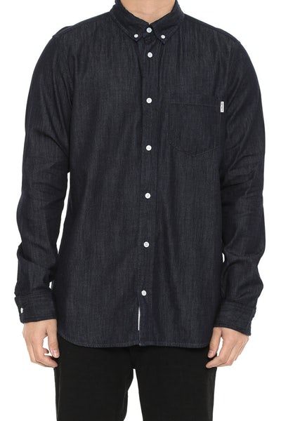 Civil Long Sleeve Button up Dark Denim