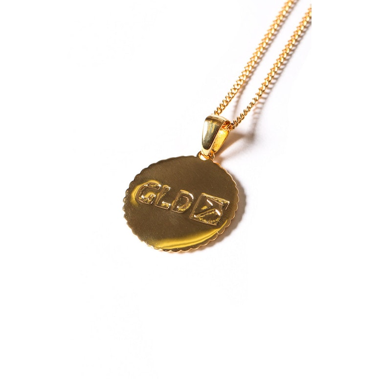 Chief Coin Pendant Chain Gold