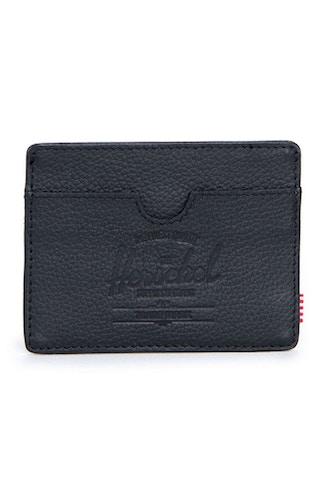 Charlie Leather Wallet Black Pebble