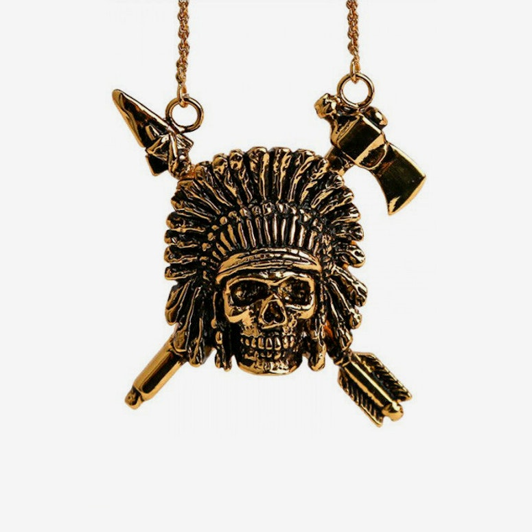 Indian Chief Necklace Gold
