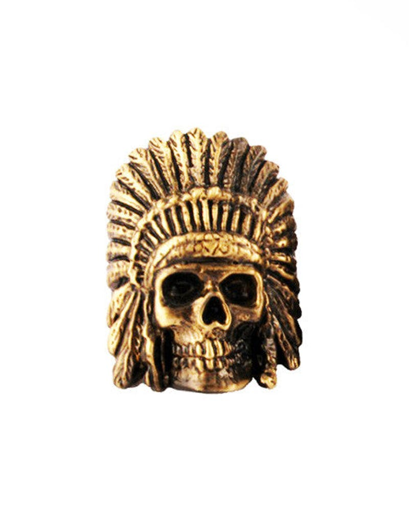 Indian Chief Ring Gold