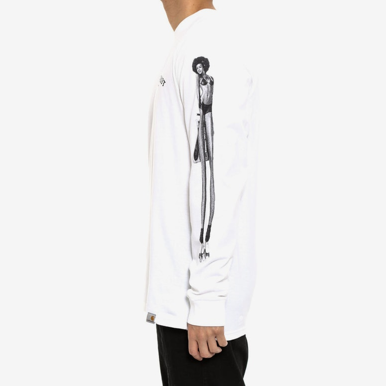 Mmc Detroit Soul Skate Long Sleeve Tee White/black