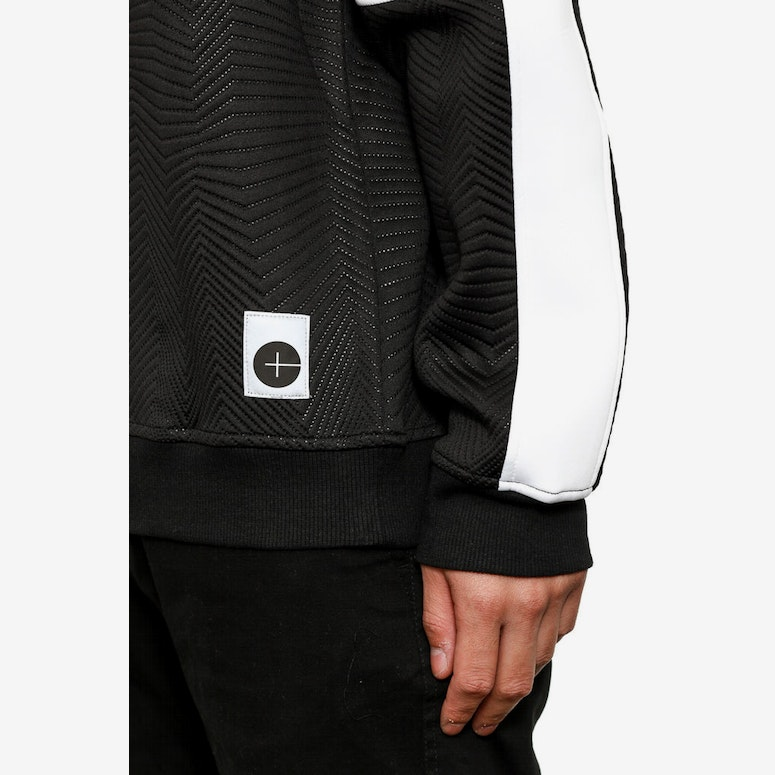 Quilted Neoprene Sweater Black/white