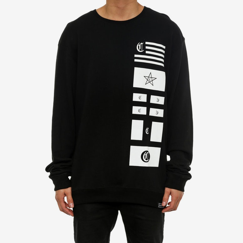 Flags Crew Neck Black