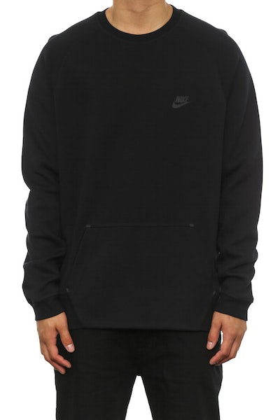 Tech Crewneck 1-mm Black