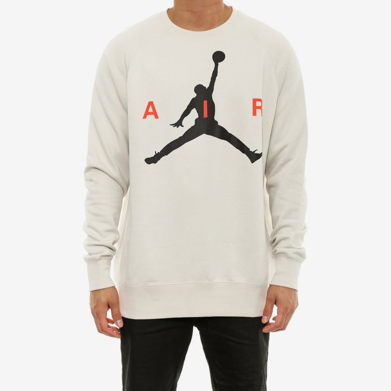 Jumpman Graph Brush Crew Natural/black