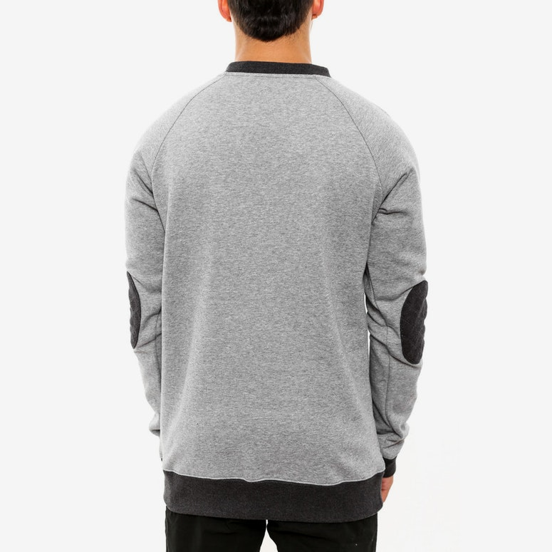 Blake Quilted Crewneck Grey