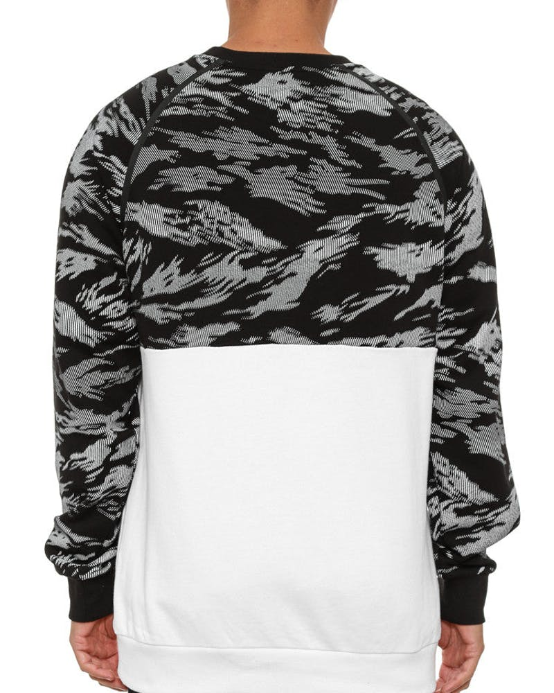 Cr-nack Fleece Crew Black/white