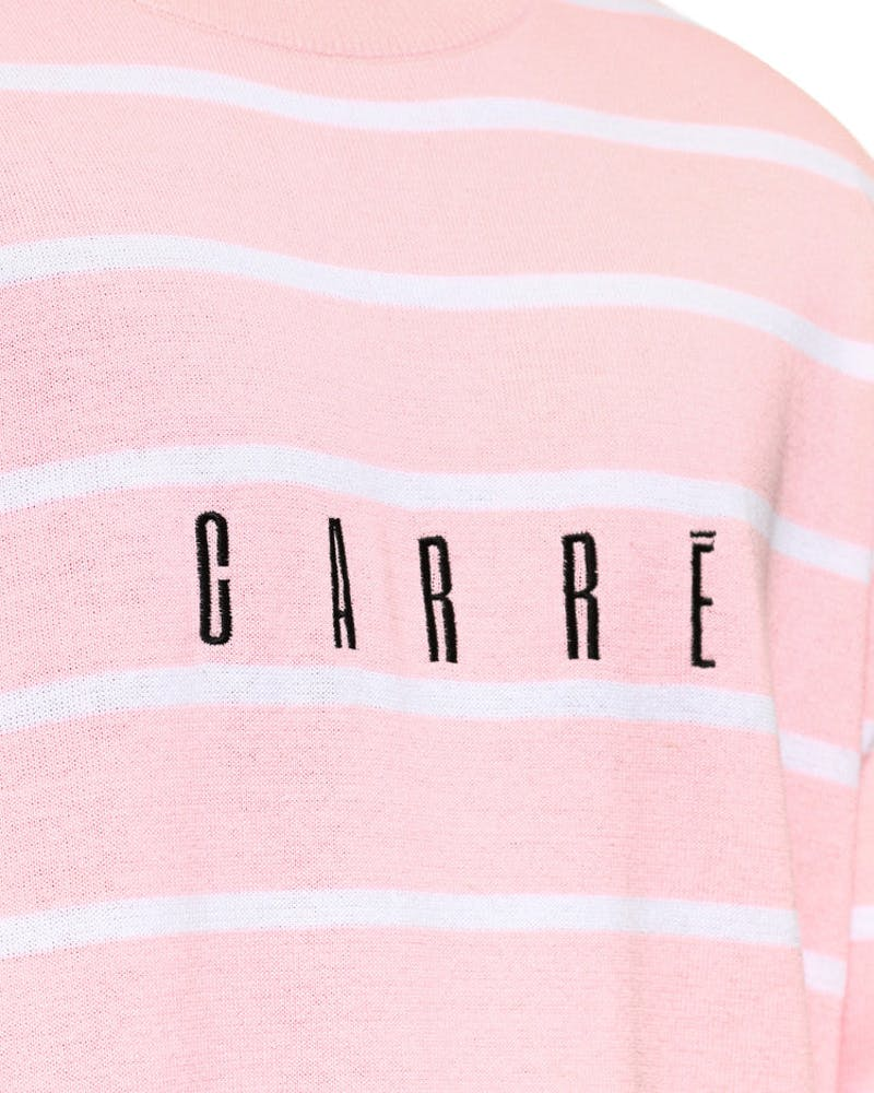 Striped Crew NK Knitwear Pink/white