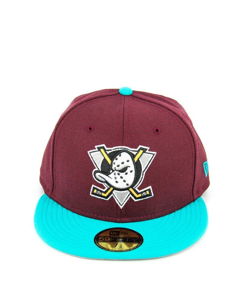 Ducks Fashion Fitted Maroon/teal