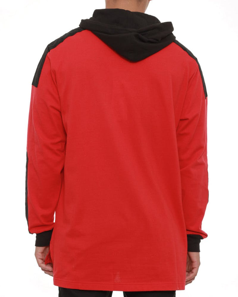 Percy Rugby Hooded Jacket Red/black