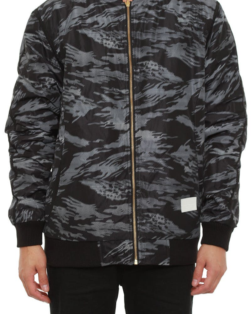 Illusive Reverse Bomber Jacket Black