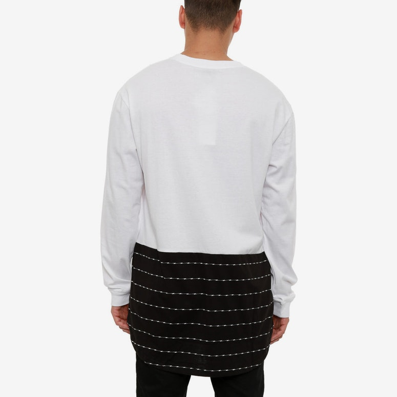 Storm Long Sleeve Top White/black