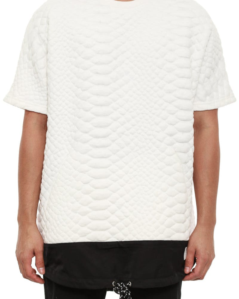Viper Jaquard Top White