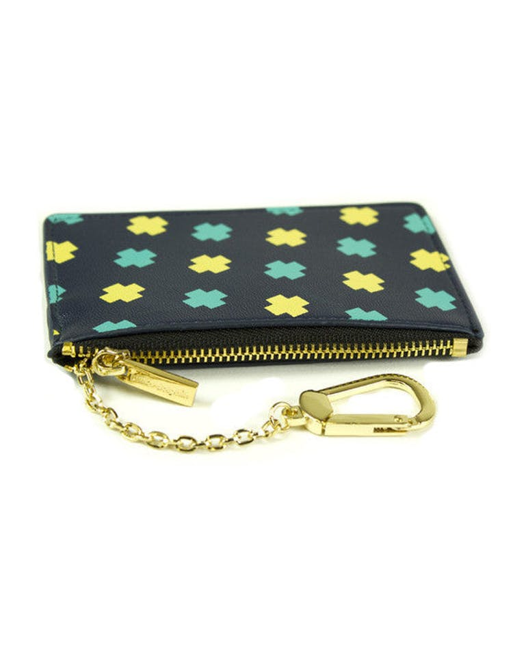 Cross Coin Pouch Navy