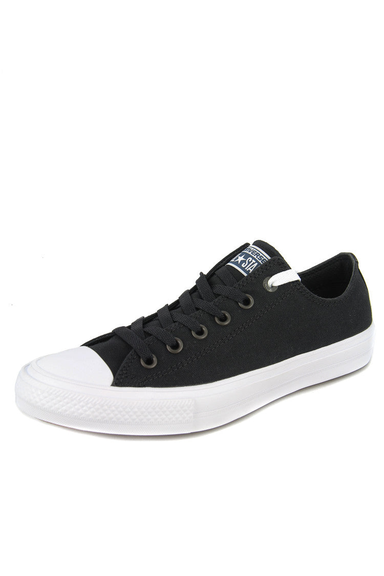 NEW Converse Chuck Taylor All Star II Ox Leather Black White