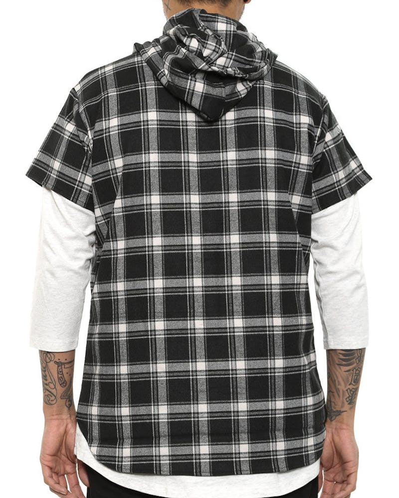 Foreign Plaid Button up Black