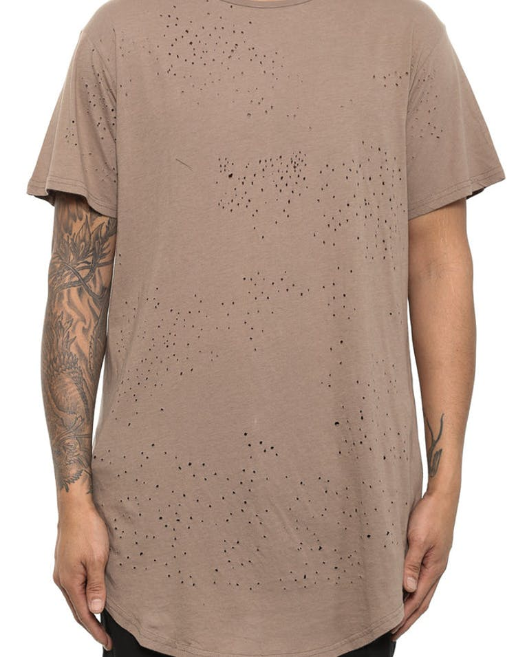 Blasted Thrashed 5 OZ Drop Tee Beige