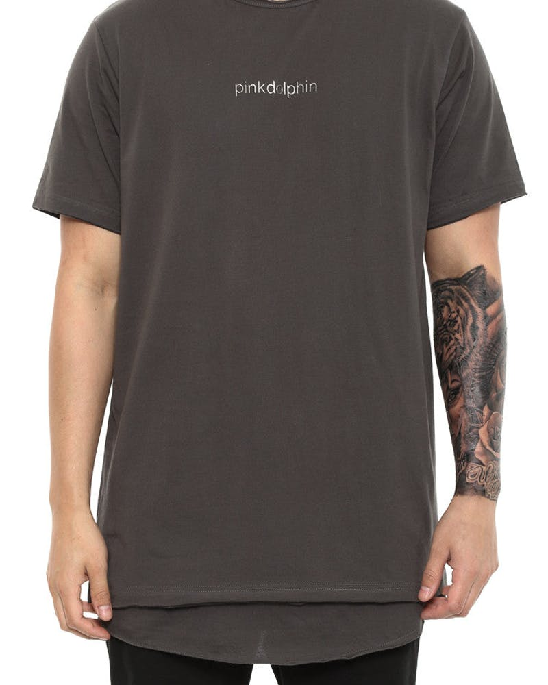Classic Inset Tee Charcoal