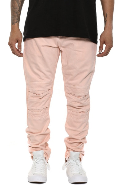 Articular Taper Denim Pants Light Pink