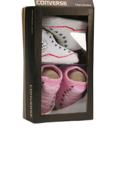 Chuck Taylor Knit Booties White/pink