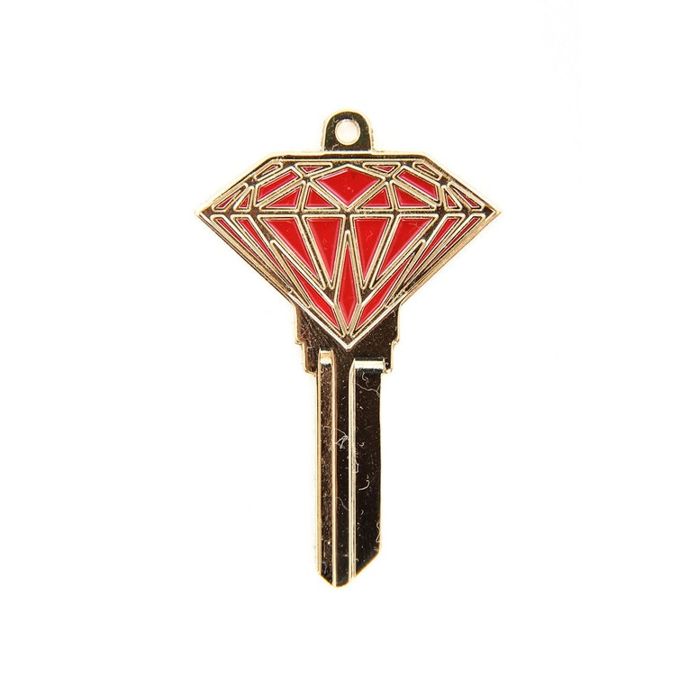 Brilliant Blank Key Gold/red