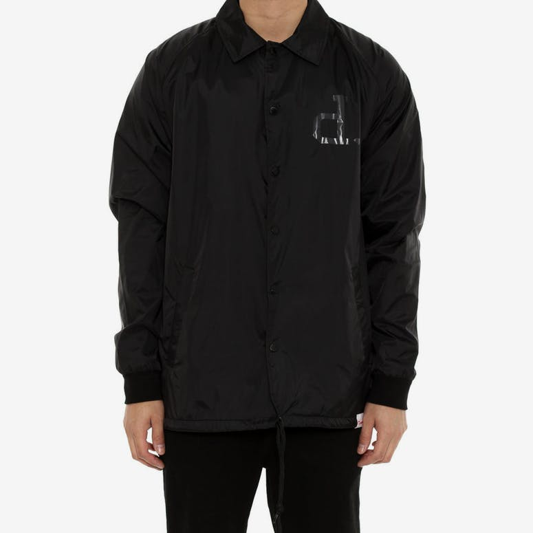 Tonal Unpolo Coach Jacket Black
