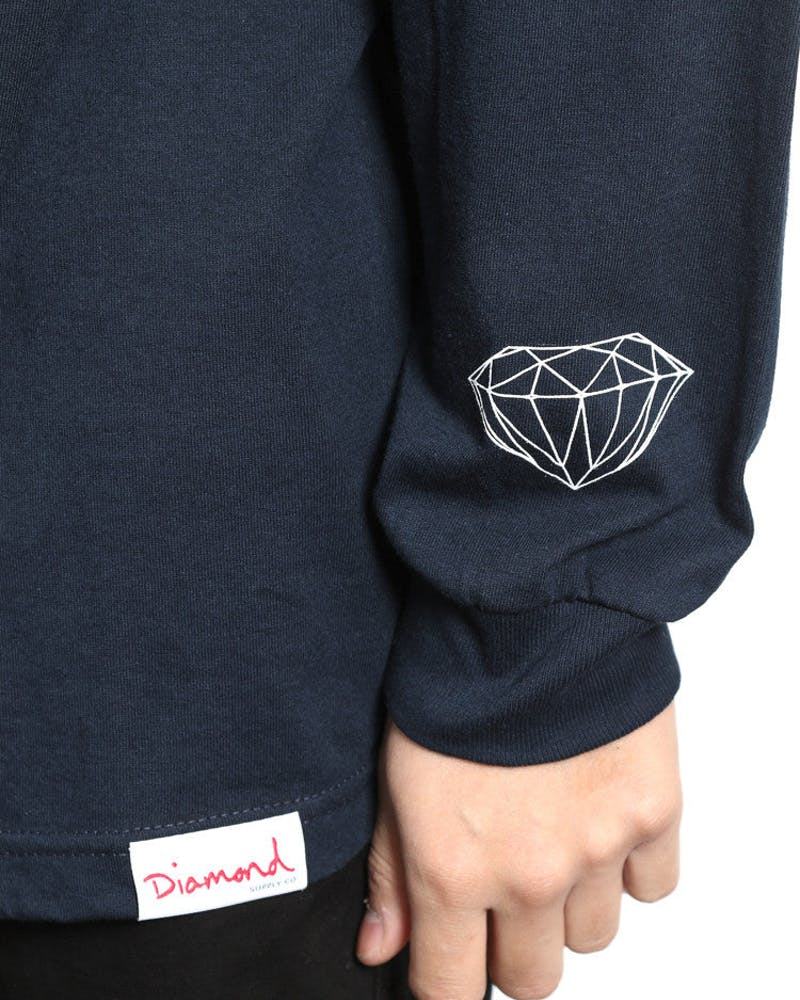 Square Long Sleeve Tee Navy