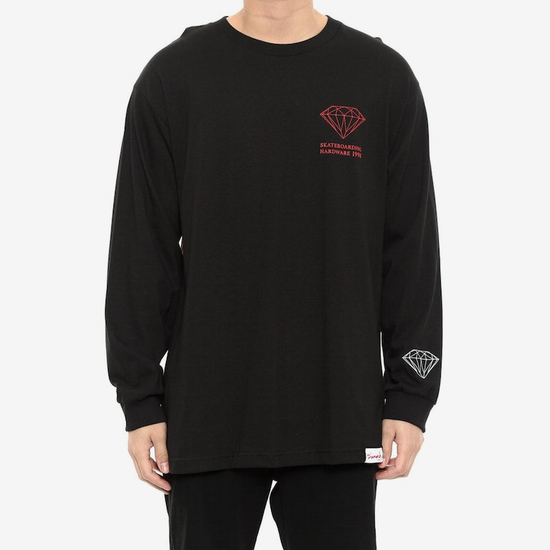 Square Long Sleeve Tee Black
