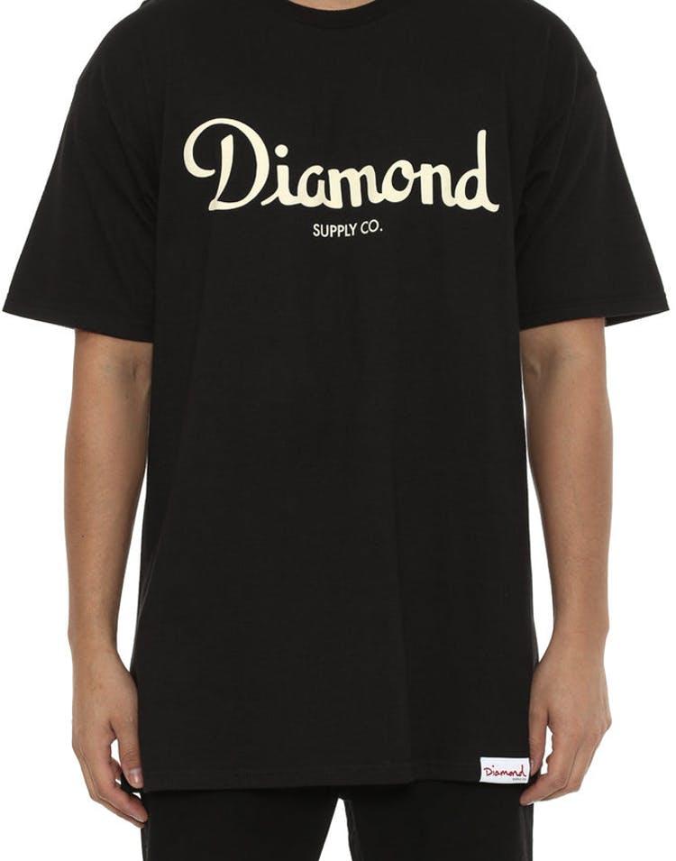 4548f61f Diamond Supply Champagne Script Tee Black – Culture Kings