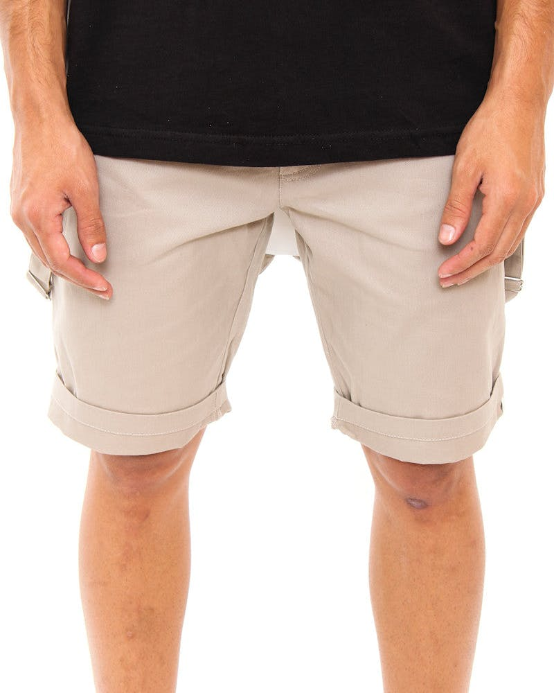 Braced Short Khaki